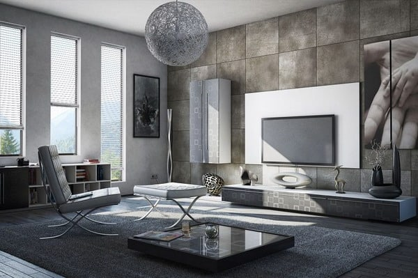 White and gray living room declined in some refined atmospheres to adopt in 2019
