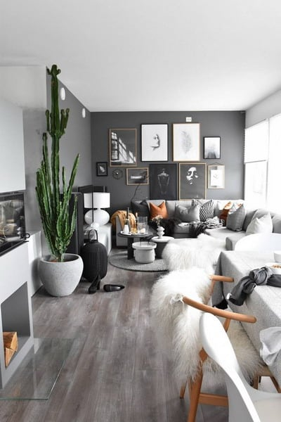 white and gray living room decor trends 2