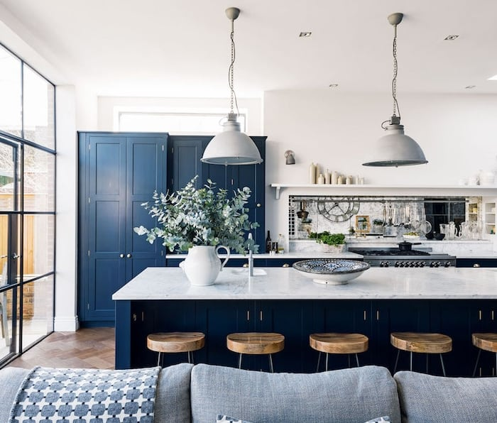 Blue Kitchen Decor - A Seventh Heaven Kitchen