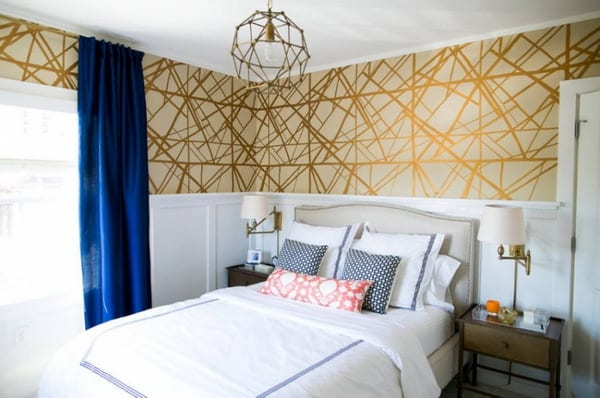 Wallpaper trends for bedroom interior decorating design