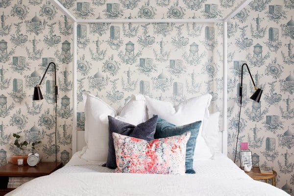 Wallpaper trends on the wall in every room