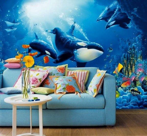 spectacular wallpaper trends for living room 10
