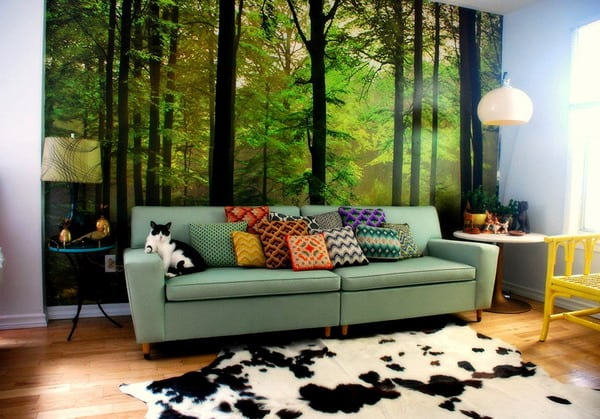 spectacular wallpaper trends for living room 11