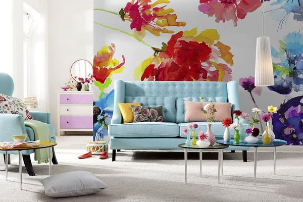spectacular wallpaper trends for living room 15