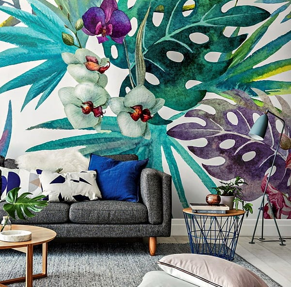 spectacular wallpaper trends for living room 2