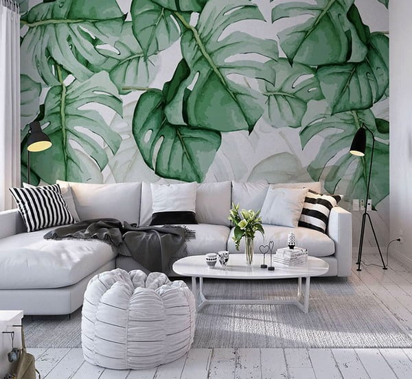 spectacular wallpaper trends for living room 21