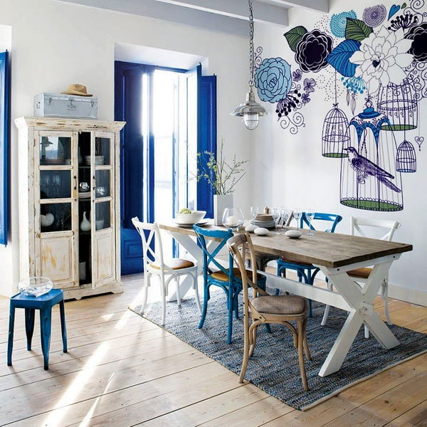 Kitchen wall murals interior moody room photos 11