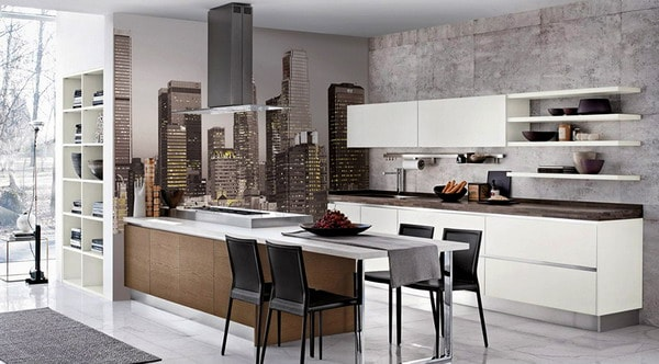 Kitchen wall murals interior moody room photos 14