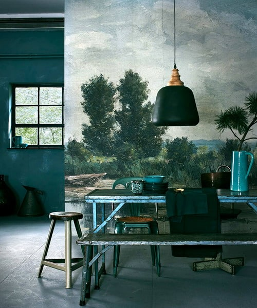 Wall murals in the kitchen: how to beat the interior in a moody room
