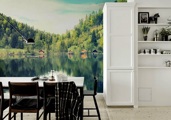 Kitchen wall murals interior moody room photos 2