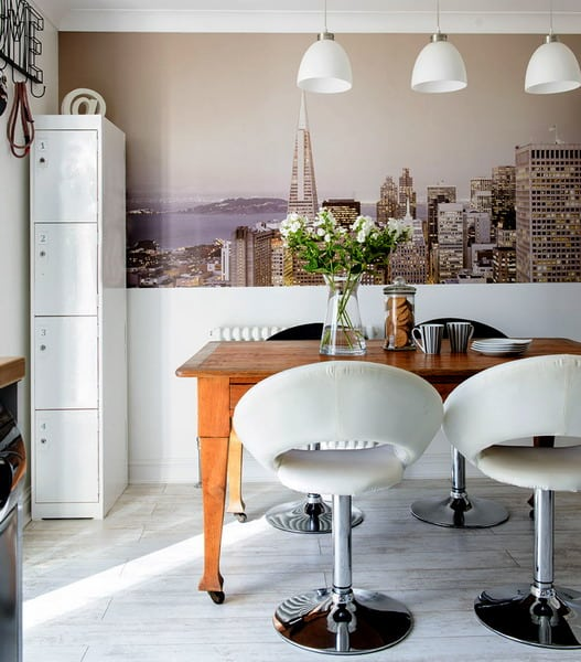 Kitchen wall murals interior moody room photos 4