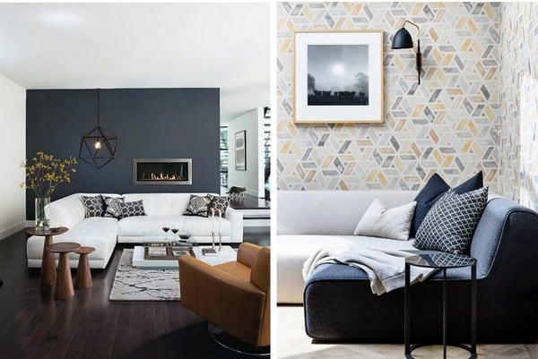 Wallpaper for the living room: photos of interiors with an interesting design